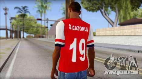 Arsenal 2013 T-Shirt for GTA San Andreas second screenshot