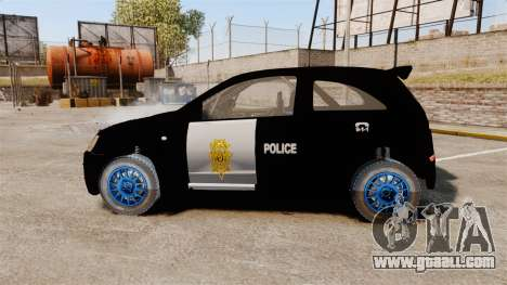 Opel Corsa Police for GTA 4 left view
