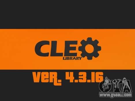 CLEO 4.3.16 for GTA San Andreas