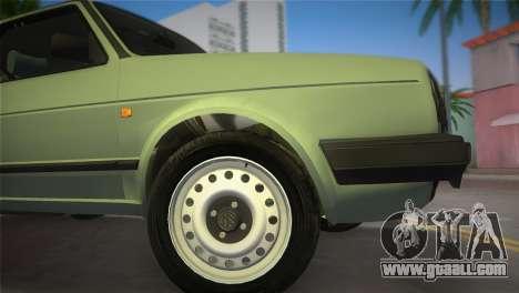 Volkswagen Golf II 1991 for GTA Vice City back left view