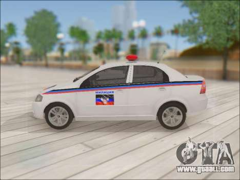 Chevrolet Aveo Police DND for GTA San Andreas left view