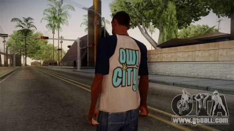 Owl City T-Shirt for GTA San Andreas second screenshot