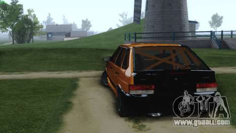 VAZ 2114 Cramps for GTA San Andreas back left view