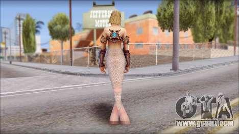 Mermaid Gold Fish Tail for GTA San Andreas second screenshot