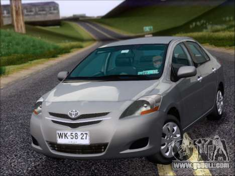 Toyota Yaris 2008 Sedan for GTA San Andreas left view