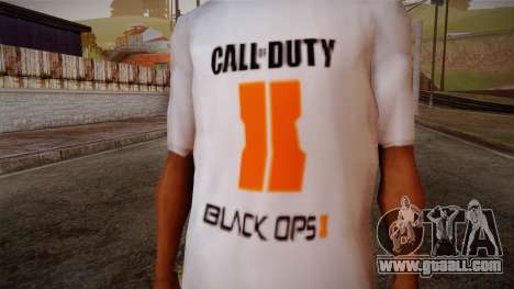 COD Black Ops II White Fan T-Shirt for GTA San Andreas third screenshot