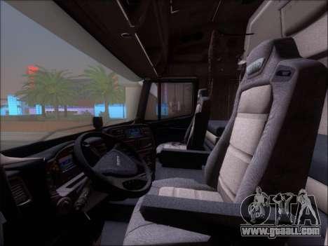 Iveco Stralis HiWay 560 E6 8x4 for GTA San Andreas interior