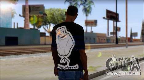 Trollface and Forever Alone T-Shirt for GTA San Andreas second screenshot