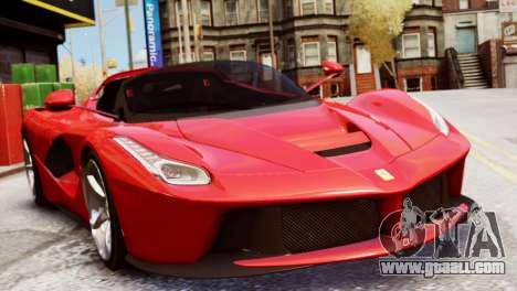 Ferrari LaFerrari Spider for GTA 4 back left view