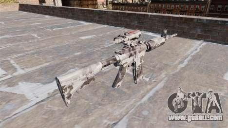 Automatic carbine MA Arctic Camo for GTA 4 second screenshot