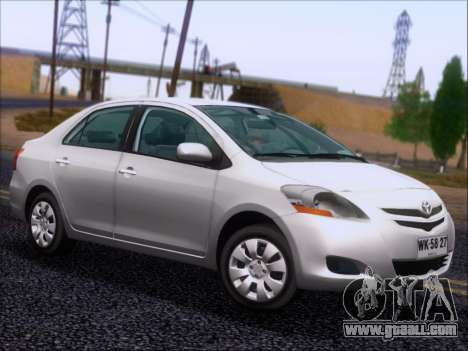Toyota Yaris 2008 Sedan for GTA San Andreas side view