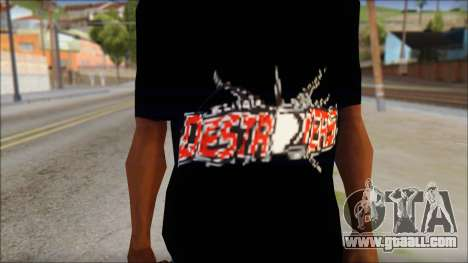 Destroyers T-Shirt Mod for GTA San Andreas third screenshot