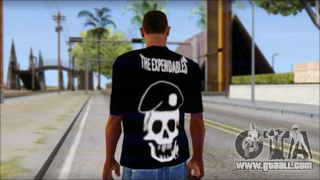 The Expendables Fan T-Shirt v1 for GTA San Andreas second screenshot