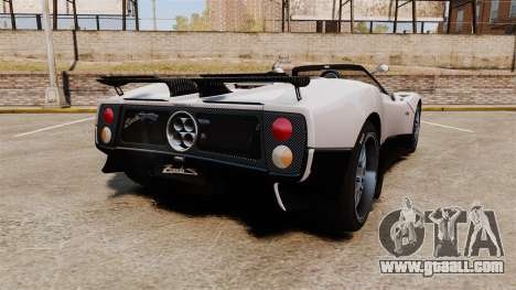Pagani Zonda C12S Roadster 2001 v1.1 PJ2 for GTA 4 back left view