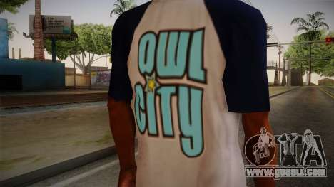 Owl City T-Shirt for GTA San Andreas third screenshot