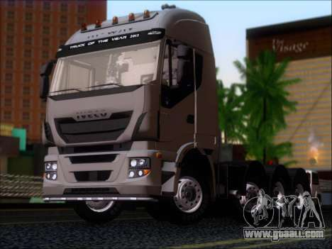 Iveco Stralis HiWay 560 E6 8x4 for GTA San Andreas left view