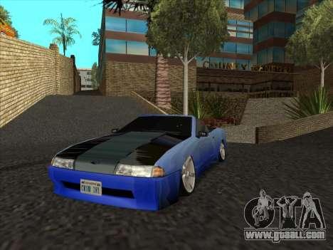 Elegy Cabrio HD for GTA San Andreas back view