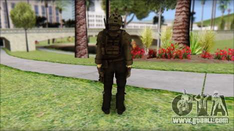 Roach Anderson in Dark Suit from MW2 for GTA San Andreas second screenshot