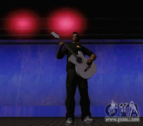 Songs of Viktor Tsoi guitar for GTA San Andreas fifth screenshot