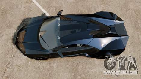 Lykan HyperSport Black for GTA 4 right view