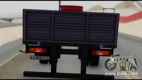 Semitrailer MAZ 93866 for GTA San Andreas back left view
