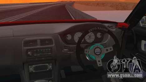 Toyota Chaser Tourer Stock V2.5 1999 for GTA San Andreas back left view