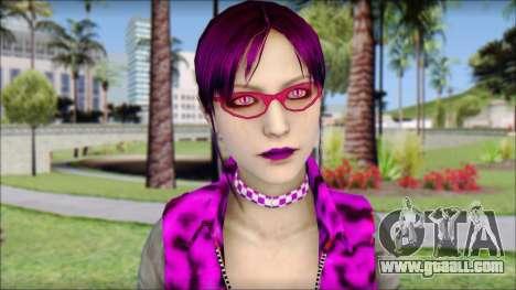 Rock Chicks Purple Ped for GTA San Andreas third screenshot