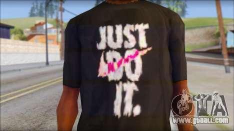 Just Do It NIKE Shirt for GTA San Andreas third screenshot