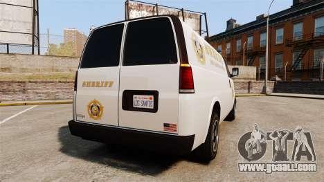 Vapid Speedo Los Santos County Sheriff [ELS] for GTA 4 back left view