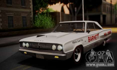 Dodge Coronet 440 Hardtop Coupe (WH23) 1967 for GTA San Andreas bottom view