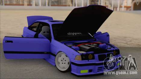 BMW M3 E36 Coupe Slammed for GTA San Andreas right view