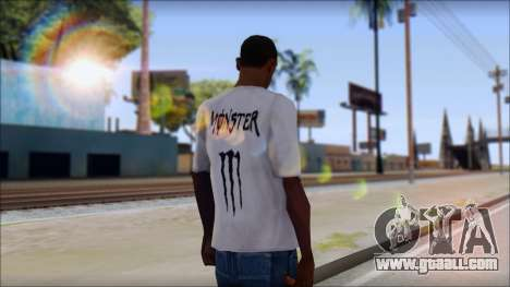 Monster Black And White T-Shirt for GTA San Andreas second screenshot