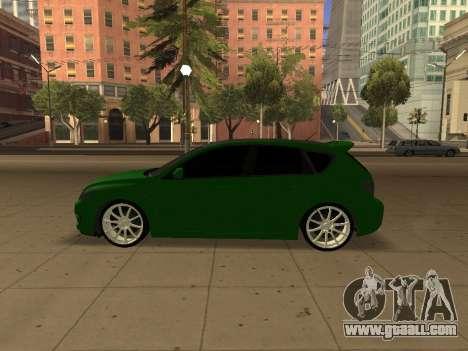 Mazda 3 for GTA San Andreas right view