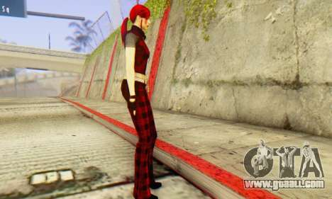 Red Girl Skin for GTA San Andreas second screenshot