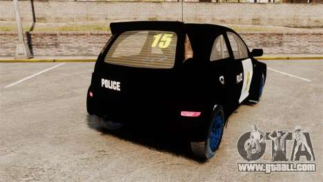 Opel Corsa Police for GTA 4 back left view