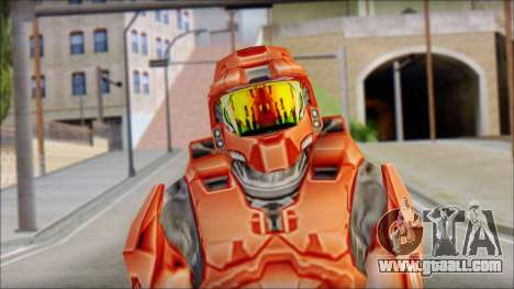 Masterchief Red from Halo for GTA San Andreas third screenshot