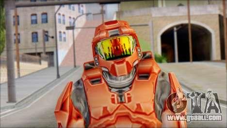 Masterchief Red from Halo for GTA San Andreas third screenshot