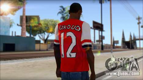 Arsenal FC Giroud T-Shirt for GTA San Andreas second screenshot