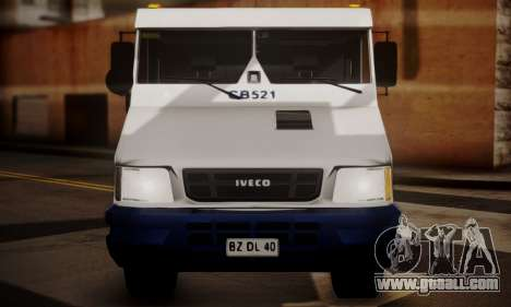 Iveco Daily Brinks for GTA San Andreas back left view