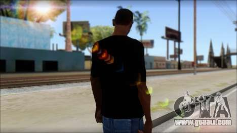 Skull T-Shirt Black for GTA San Andreas second screenshot