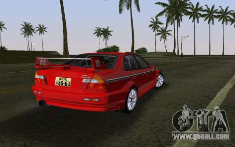 Mitsubishi Lancer Evolution 6 Tommy Makinen Edit for GTA Vice City left view