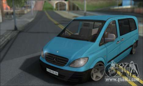 Mercedes-Benz 115 CDI Vito 2007 Stance for GTA San Andreas left view