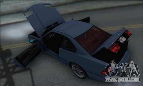 BMW E31 850CSi 1996 for GTA San Andreas upper view