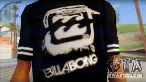 Billabong T-Shirt Black for GTA San Andreas third screenshot