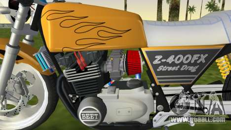 Kawasaki Z400FX Street Drag Racer for GTA Vice City back left view