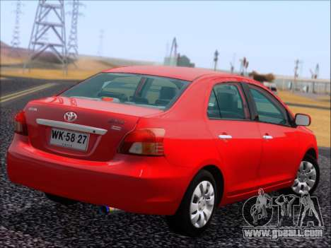 Toyota Yaris 2008 Sedan for GTA San Andreas inner view