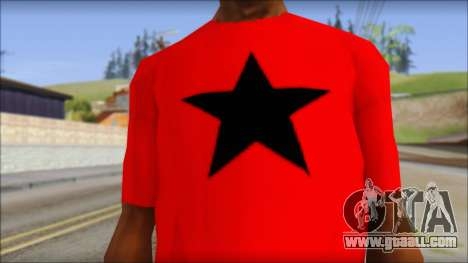 Vidick from Infected Rain Red T-Shirt for GTA San Andreas third screenshot