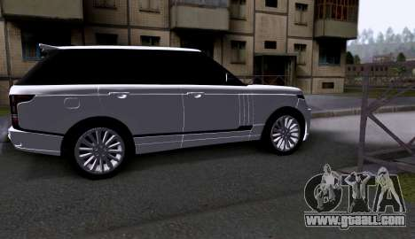 Land Rover Range Rover Startech for GTA San Andreas back left view