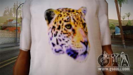 Leopard Shirt White for GTA San Andreas third screenshot