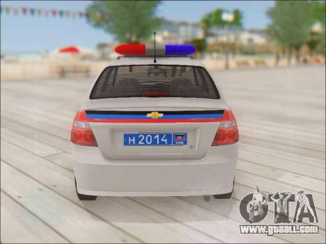 Chevrolet Aveo Police DND for GTA San Andreas right view